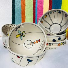 #emptybowls2018 is tonight at The Lewis & Clark Fairgrounds benefiting The Friendship Center! Come support an amazing organization and leave with a beautiful #handmade bowl! 4:30-7pm #seeyouthere #freeceramics #colorful #porcelain #dots #dishwashersafe