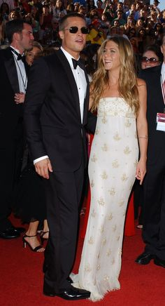 Jennifer Aniston and Brad Pitt - 56th Annual Emmy Awards