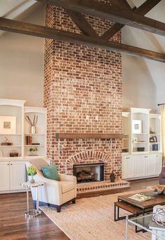 exposed brick fireplace ideas