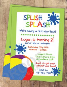 Hey, I found this really awesome Etsy listing at https://www.etsy.com/listing/194265209/pool-party-splish-splash-swimming-party
