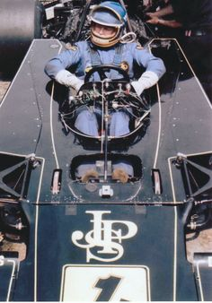 RONNIE PETERSON #1T JOHN PLAYER JPS LOTUS 72 E BELGIAN GP 1974 COLOR PHOTOGRAPH