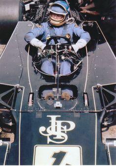 RONNIE PETERSON #1T JOHN PLAYER JPS LOTUS 72 E BELGIAN GP 1974 COLOR PHOTOGRAPH