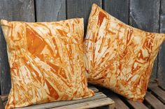 SALE  Rust Dyed Pillow Set Home Decor Pillows by SouthernTextiles, $80.00