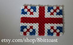 United Kingdom Flag - Perler Beads - keychain, magnet or necklace - cheap and great quality. $2.50, via Etsy.