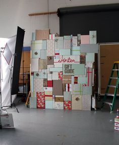Wrapped present backdrop