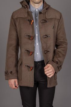 Farah The Hopkins Toggle Duffle Coat Khaki- My nexy boyfriend's christmas present! ;)