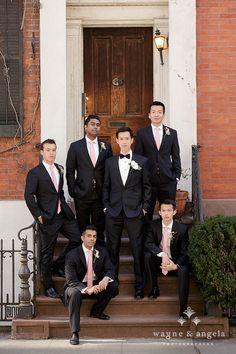 we ❤ this!  moncheribridals.com  #groomsuits #groomsmensuits