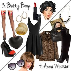 Top 10 Last-Minute DIY Costume Ideas Using Your Favorite LBD! Betty Boop and Anna Wintour