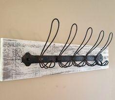 Reclaimed Wood with Rustic Locker Room Hooks - Coat Hooks