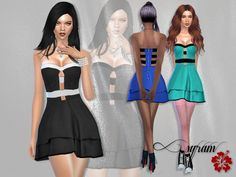 The Sims Resource: Emmy Can't Wait Dress by EsyraM • Sims 4 Downloads