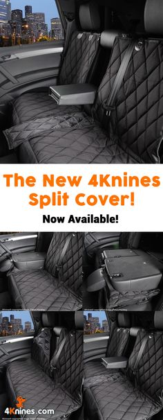 4Knines Split Seat Covers for dogs allows for use of a 60/40 split seat. Check it out here! http://4knines.com/pages/4knines-split-rear-seat-covers-for-dogs