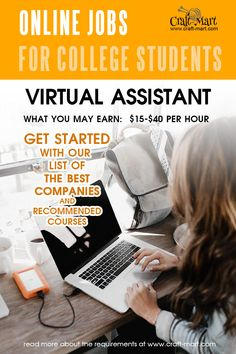 Learn how to Get started with Virtual Assistant jobs! If you are looking for legit online jobs for college students read this post featuring multiple resources and helpful information about hiring companies and courses. Make Easy Money, Way To Make Money, Online Data Entry, Legit Online Jobs, Virtual Assistant Jobs, Best Insurance, Student Reading, Earn Money From Home, Working Moms