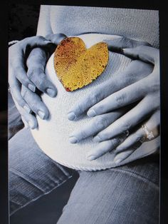 Fall Heart Leaf Maternity Photography Idea...maybe I can use a baby pumpkin instead???
