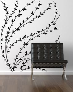 vinyl wall decal branch wall art Silhouette by ModernWallDecal
