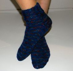 Louise Knits: Straight Needle Sock Pattern