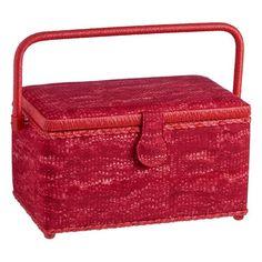 Sewing Storage At Spotlight - Sewing Boxes, Bags + Sewing Box, Haberdashery, Craft Kits, Spotlight, Marble, Basket, Storage, Red, Purse Storage