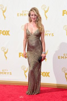 Pin for Later: See All the British Stars at the 2015 Emmy Awards Cat Deeley Cat is wearing a Monique Lhuillier gown.