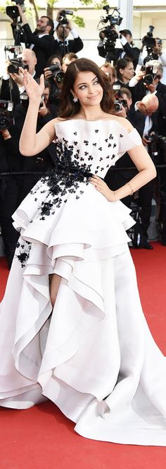 Aishwarya Rai Bachchan wearing Ralph & Russo at the Cannes Film festival 2015