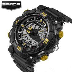 57ffb3143c1b SANDA Brand New Fashion Casual Wristwatch Men Sports Military Shock Men s  Luxury Analog Quartz Led Digital