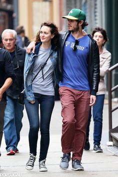 Leighton Meester and Adam Brody in NYC