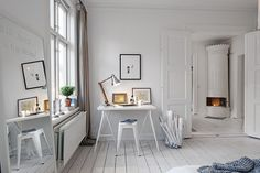White working space