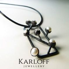 Handmade silver pendant 0.925. Dimension: 5.5cm/2cm.White natural pearls: 5mmLeather strap: 25cm longShipping Policy