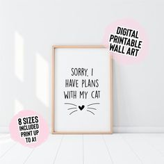 Quote Prints, Wall Prints, Pun Gifts, Bedroom Prints, Cat Wall, Cactus Print, School Gifts, Modern Prints, Colouring Pages
