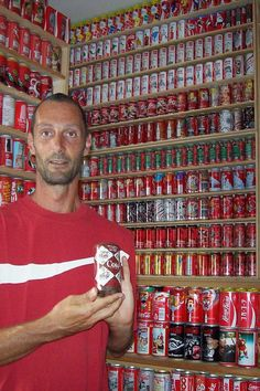 ''My name is Davide Andreani, I live in Pesaro, (Marche - Adriatic Coast) ITALY and I'm a Coca Cola cans collector''