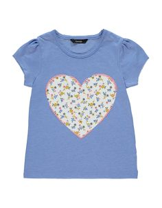 Floral Heart T Shirt Girls George At Asda Asda Shirts For Girls