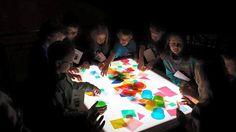 The Light Table lets kids mix colors while making new designs and experimenting with opacity.