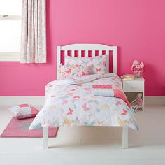 Buylittle home at John Lewis Little Fairy Butterflies Duvet Cover and Pillowcase Set, Double Online at johnlewis.com