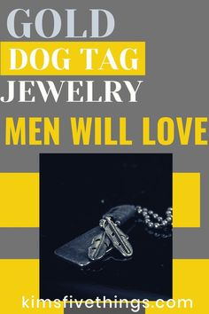 Gold jewelry for men. Gold dog tag necklaces men will love. Gifts For Your Boss, Gifts For Wine Lovers, Gifts For Dad, Boss Gifts, Mens Gold Jewelry, Custom Jewelry, Men Necklace, Dog Tag Necklace, Engraved Dog Tags