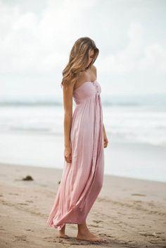 Hot Lava strapless dress dipdye pink | Ibiza fashion | Ibizamode.nl