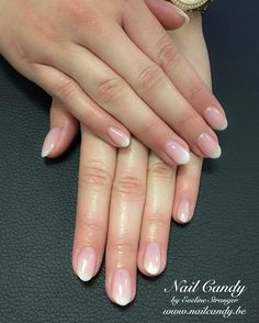 french nails tutorial How To Do Ombre French Nails, French Acrylic Nails, French Tip Nails, Ombre Nail, Cute Nails, Pretty Nails, My Nails, American Tip Nails, American Manicure Nails