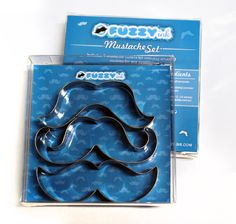 Mustache Cookie Cutter Set!   Complete with 3 different styles, this set is sure to make you the hit of any party or event.