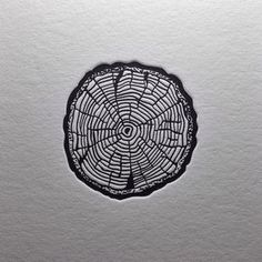 """Selah"" ~ Be still and keep the faith. Growth is slow, but deeply rooted from the center like rings on a tree. Biblical Nature Tattoo idea"
