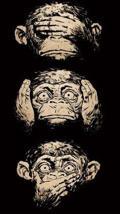 Free Monkey Faces Wallpaper For Your Phone Monkey Wallpaper, Animal Wallpaper, Hd Wallpaper, Batman Wallpaper, Black Wallpaper, Monkey Drawing, Monkey Art, Tatoo Snake, Free Monkey