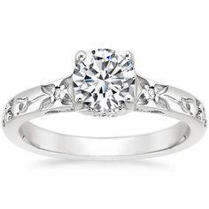 18K White Gold Flower Bud Diamond Ring from Brilliant Earth