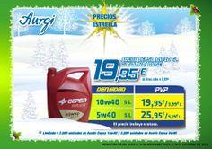 Oferta especial Aceite CEPSA 10w40 de 5L para turismos - Navidad 2013 (del 24 de noviembre al 24 de Diciembre). Más info en www.aurgi.com