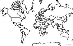 magnetic large world blank map outline | Maps, Global ...