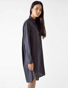 rane check shirt dress