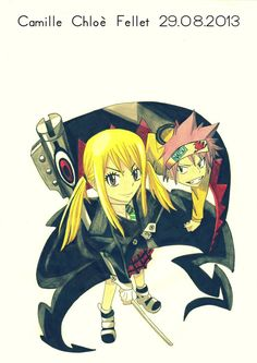 Fairy Tail x Soul Eater. I had no idea where to out this so it just goes on my anime board XD