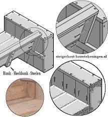 Resultado de imagen para tuinbank steigerhout maken