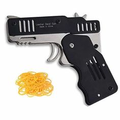 Metal Foldable Rubber Band Gun Unique Gifts For Boys, Rubber Band Gun, Man Cave Accessories, Desk Toys, Star Wars Gifts, Building Toys, Cool Toys, Hand Guns, Office Decor