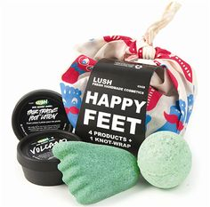 Lush Cosmetics happy feet product
