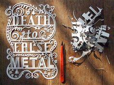 Pretty paper-cut typography by Julene
