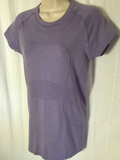 170e9fd3 LULULEMON Purple Run Swiftly Tech Fitness Top 8 Short Sleeve Workout Tee