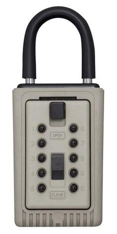 Kidde AccessPoint 001404 KeySafe 3-Key Portable Push Button Key Safe Box, Clay - Combination Padlocks - Amazon.com