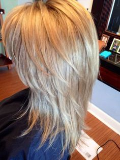 pretty blonde hair with long layers