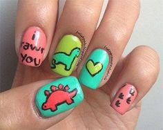 Cute Zoo Farm Animals Nail Art Designs